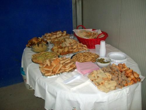 il tavolo dell'aperitivo