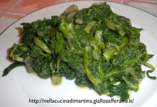 l'erba di mamma ovvero bietole e spinaci in padella - Cucinare Bieta