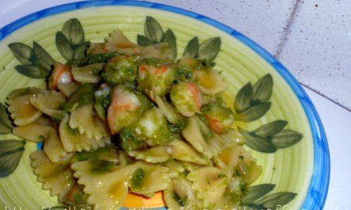 Farfalle asparagi e gamberetti