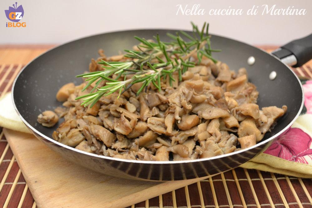 funghi in padella ricetta nella cucina di martina