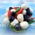 insalata con ciliegine di mozzarella