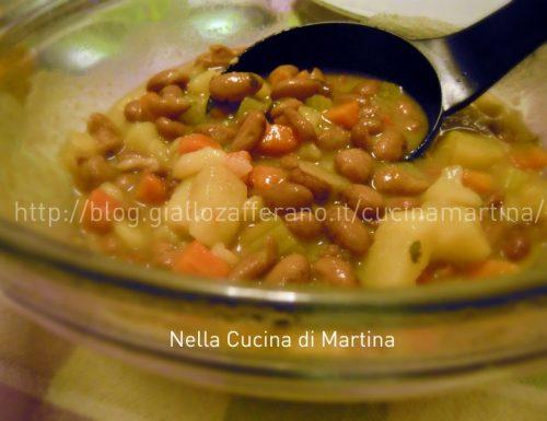 Minestrone di patate e fagioli, ricetta vegetariana