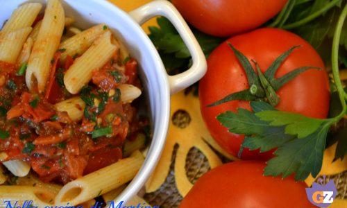 Penne all'arrabbiata : Ricetta Vegetariana
