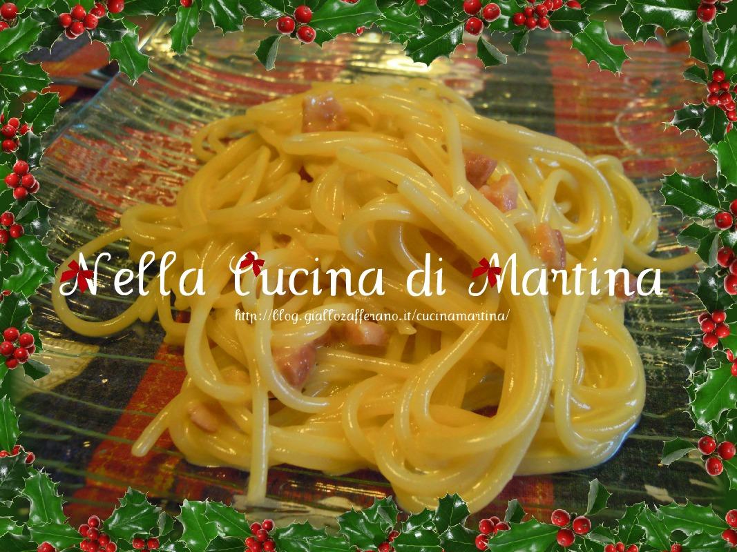 spaghetti alla carbonara di suor germana nella cucina di martina