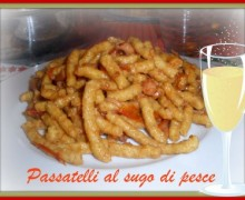 Dry passatelli with fish sauce