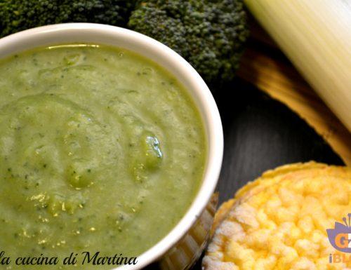 Crema di broccoletti e porri, ricetta vegetariana