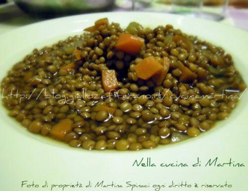 Minestra di lenticchie, ricetta semplice ed economica