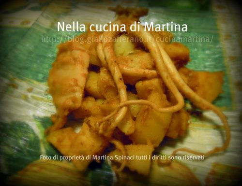 Moscardini in umido con patate, ricetta light
