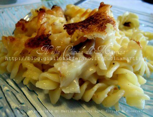 Pasticcio di pasta ai funghi e cavolfiori, ricetta vegetariana