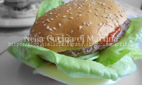 cheeseburger casalingo, ricetta economica