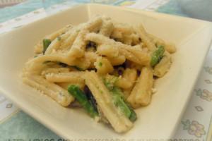 Caserecce con asparagi, ricetta primo piatto vegetariano