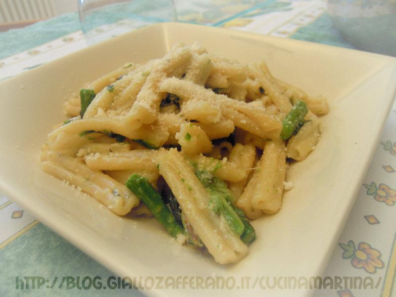 caserecce agli asparagi ricetta primo piatto nella cucina di martina
