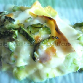 lasagne con asparagi e zucchine ricetta vegetariana di primavera nella cucina di martina