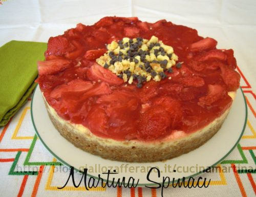 Cheesecake alle fragole, ricetta dolce