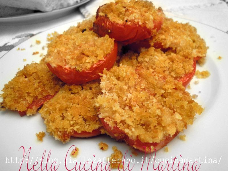 pomodori gratinati al forno nella cucina di martina ricetta contorno