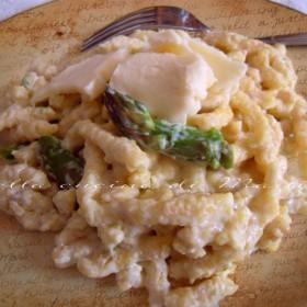 passatelli asciutti con asparagi e taleggio nella cucina di Martina ricetta