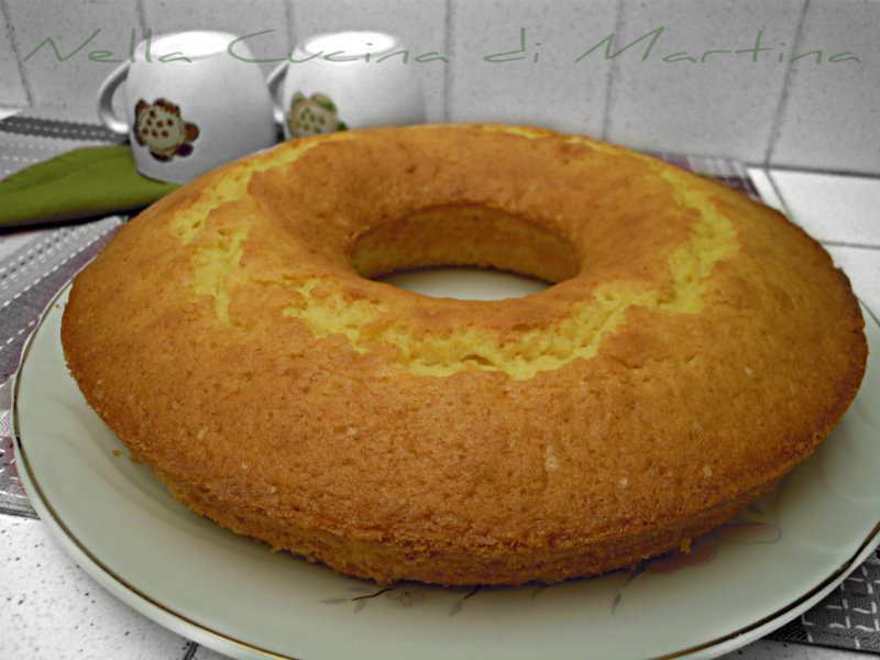 ciambella dorata ricetta dolce blog nella cucina di martina