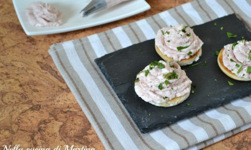 mousse di prosciutto cotto, ricetta per finger food