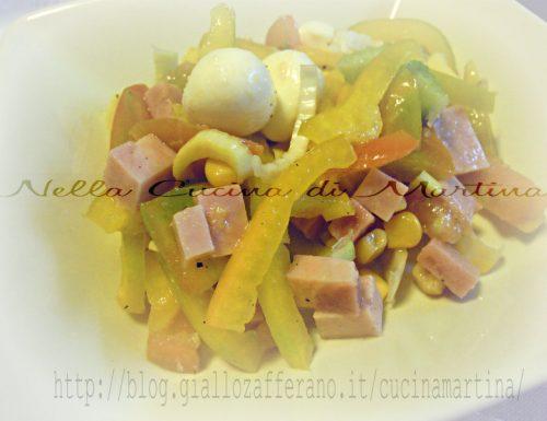 Insalata di peperoni e mozzarelline, ricetta estiva