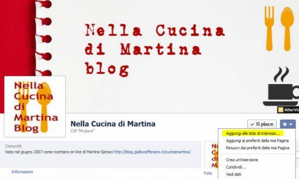 Nella cucina di Martina ha una fanpage su facebook!