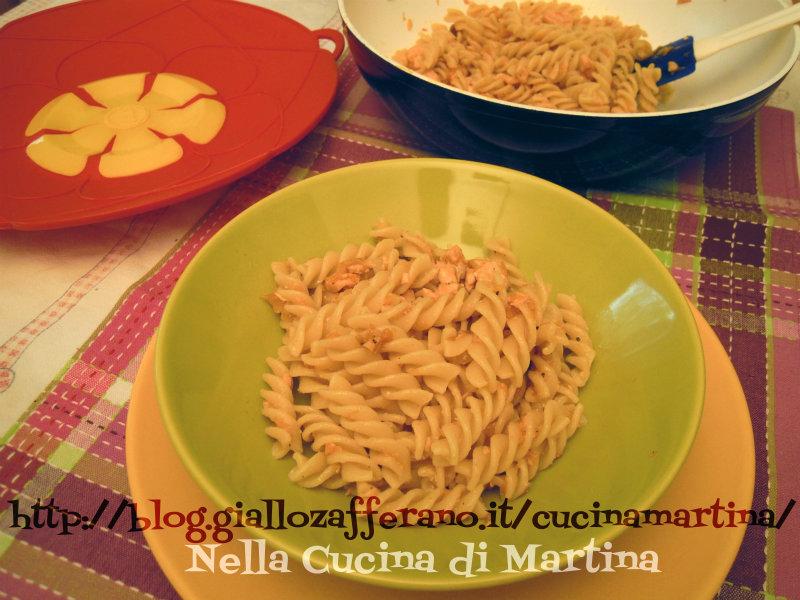 fusili zucca e salmone nella cucina di martina ricetta semplice