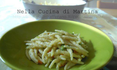 Trofie con zucca e zucchine, ricetta vegetariana