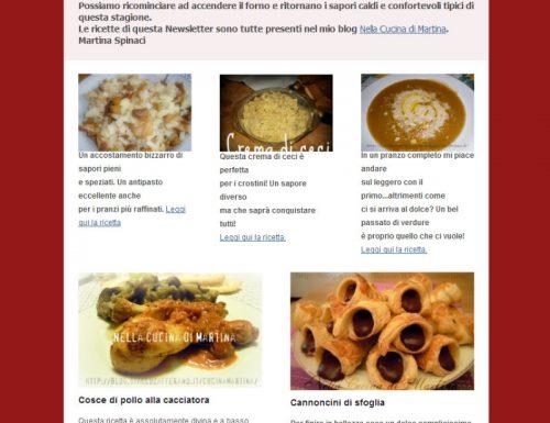 La Newsletter del mio blog, servizio gratuito