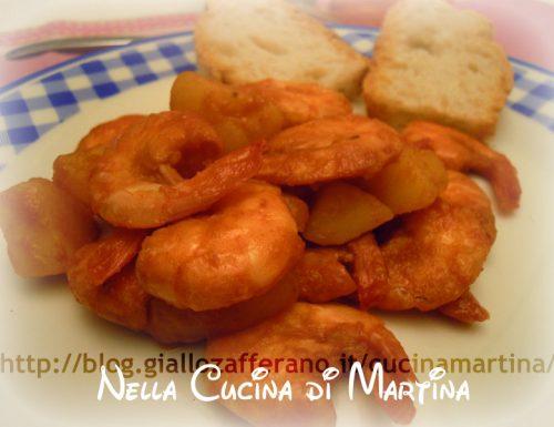 Mazzancolle con le patate, ricetta di mare