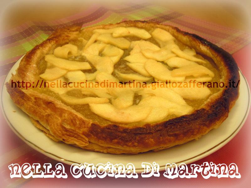 sfogliata di mele ricetta dolce veloce nella cucina di martina