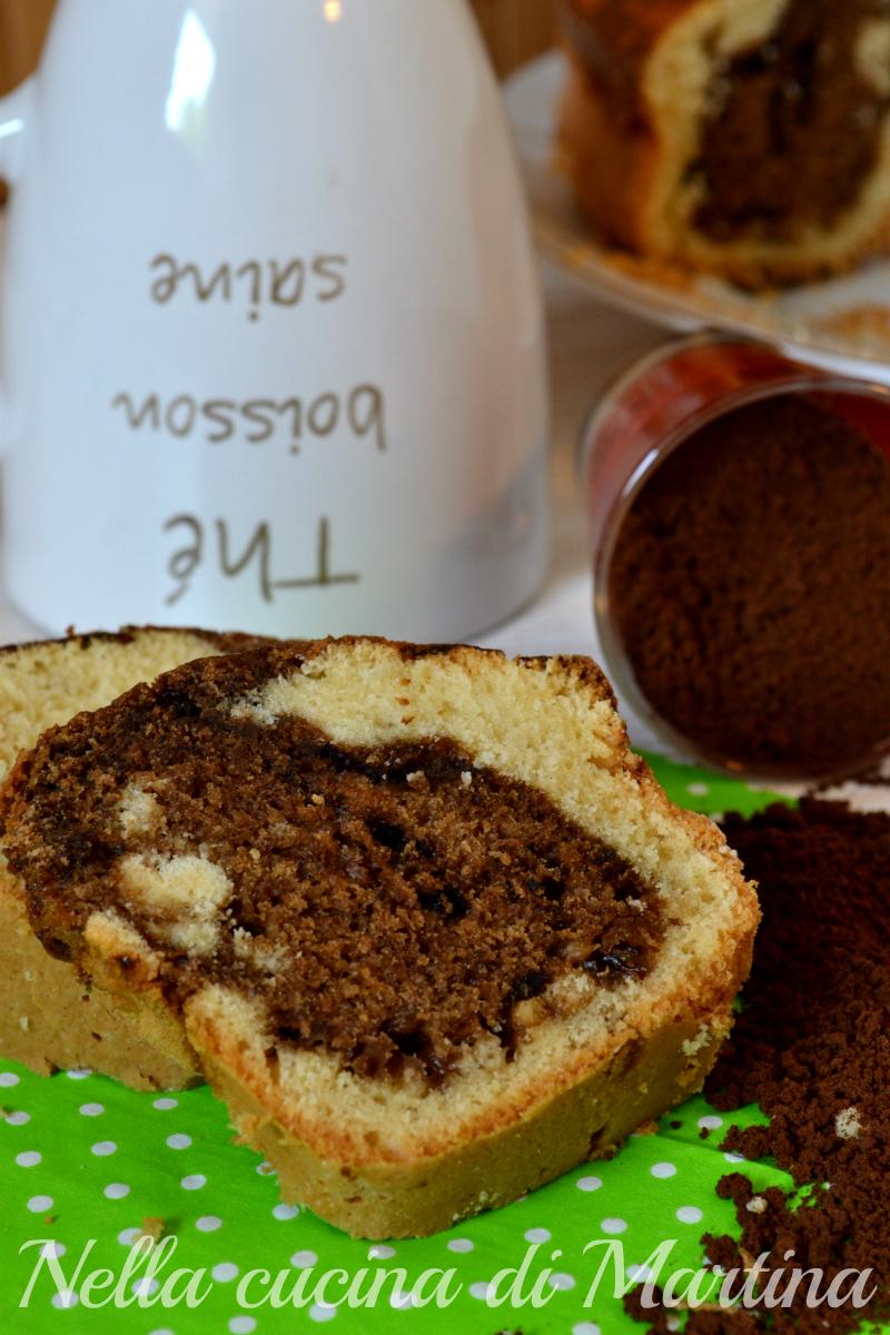torta marmorizzata al caffè