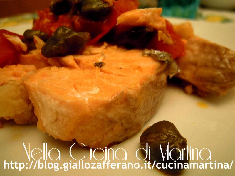 trancio di salmone, ricetta facile e veloce nella cucina di martina