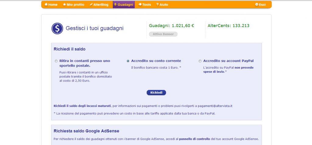 ecco come guadagnare 1000 euro con il blog
