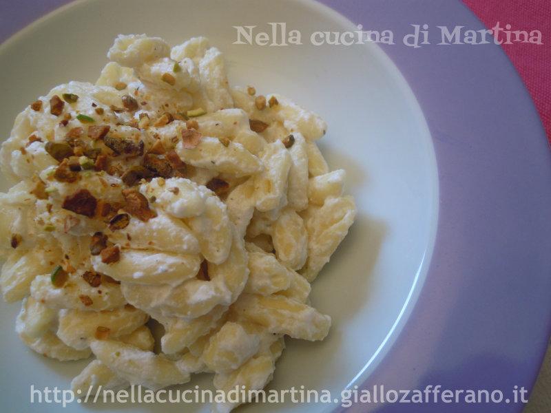 cavatelli ai pistacchi nella cucina di martina blog ricetta primi piatti