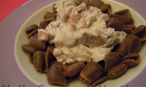 Pasta di grano arso alla boscaiola, ricetta primo piatto
