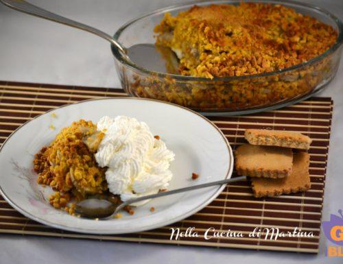 Torta sbrisolina con banane e mostazzoli ducali, ricetta dolce