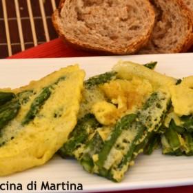 frittata spumosa agli asparagi nella cucina di martina blog