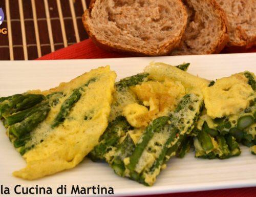 Frittata spumosa agli asparagi, ricetta per dieta a zona