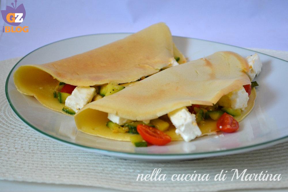 crepes alle zucchine nella cucina di martina blog