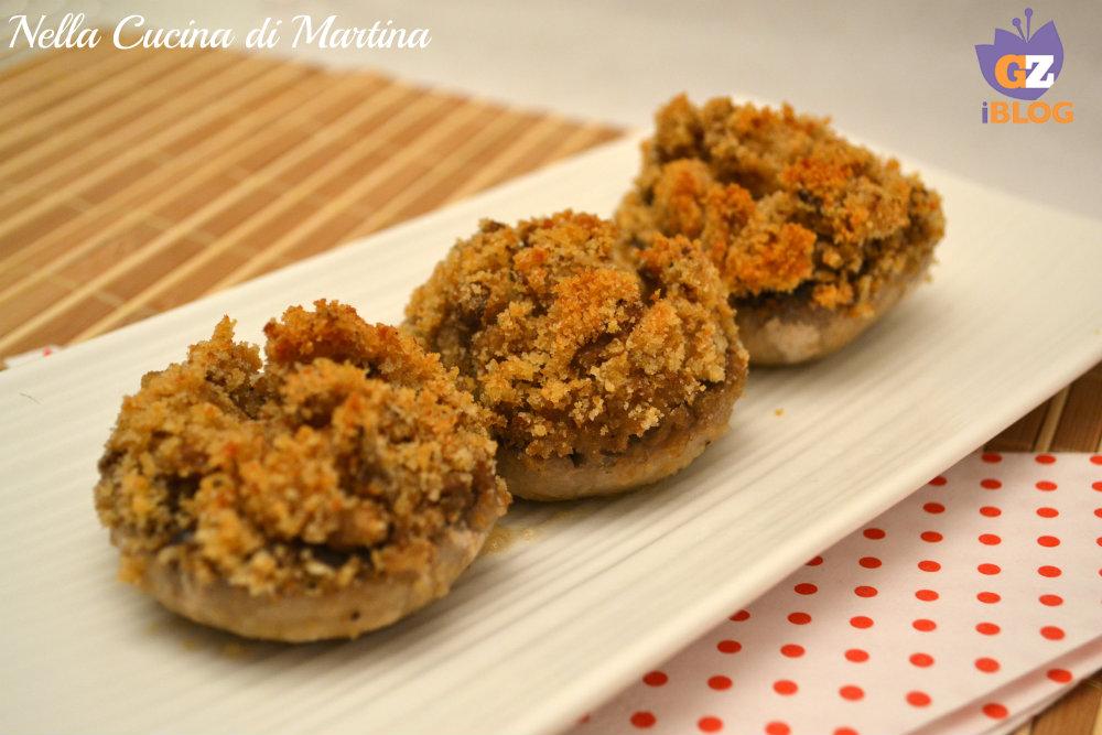 Ricetta funghi ripieni nella cucina di martina