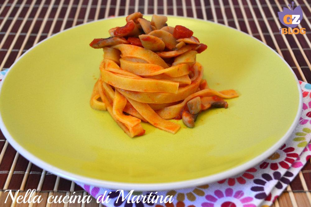 Tagliatelle ai funghi nella cucina di Martina blog