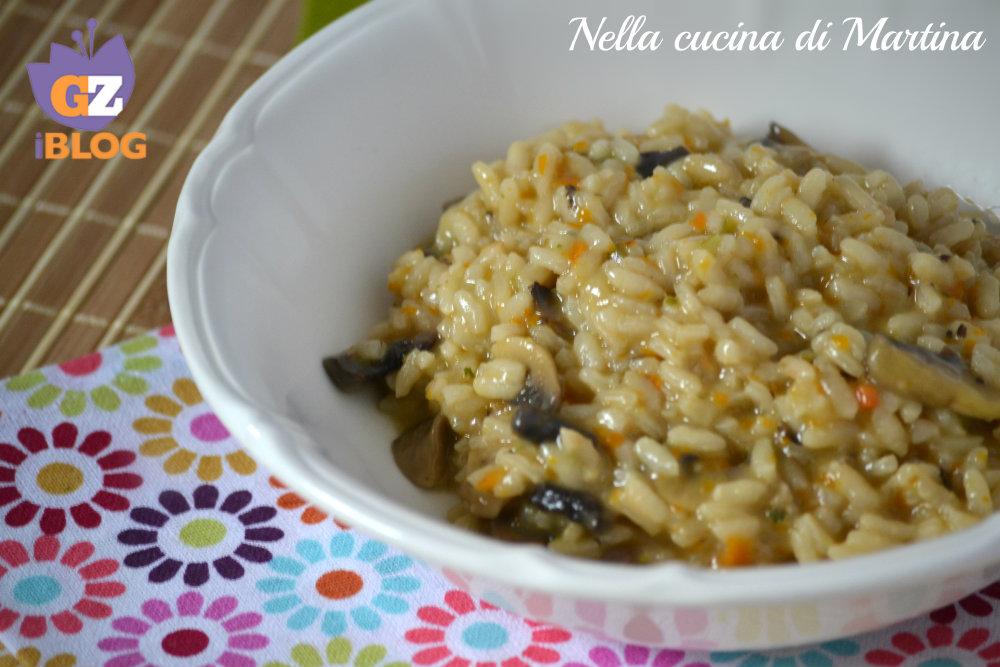 risotto ai funghi ricetta primo piatto nella cucina di martina blog