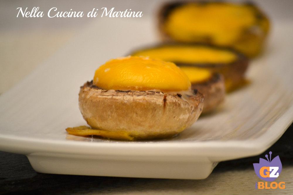 funghi con le uova ricetta antipasto finger food blog nella cucina di martina