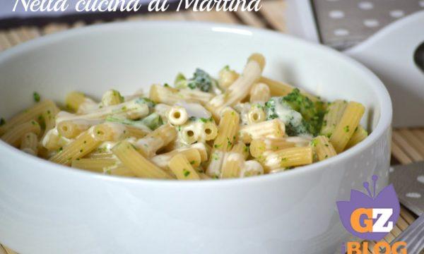 Pasta e broccoli in salsa al gorgonzola