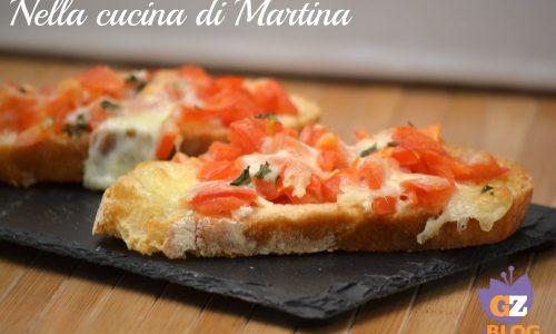 Bruschetta alla pizzaiola italian style
