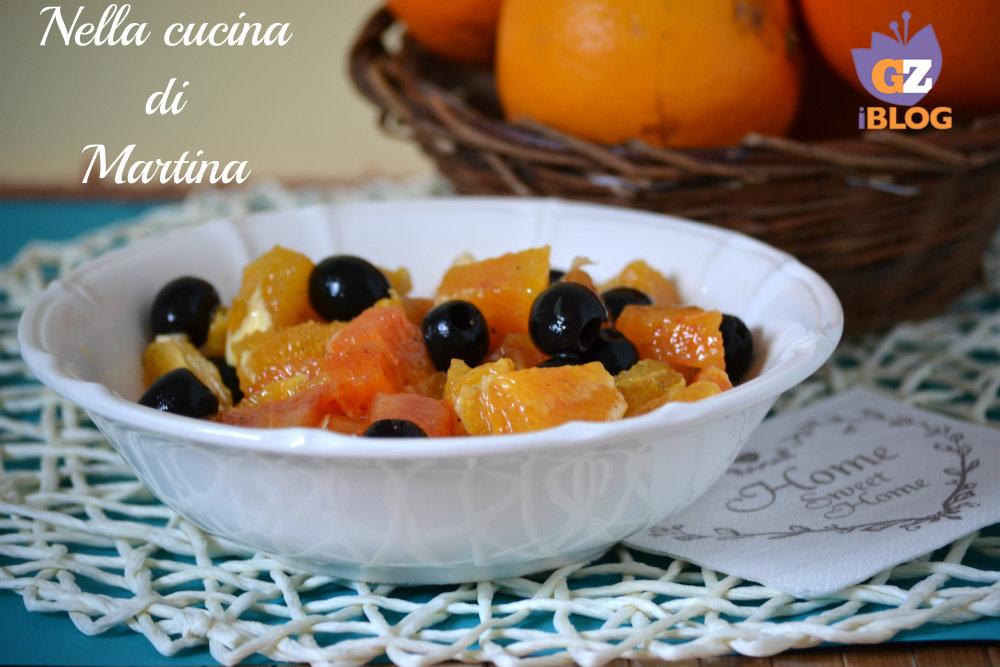 Insalata di arance ricetta contorno adatta a carne e pesce - La cucina di martina ...