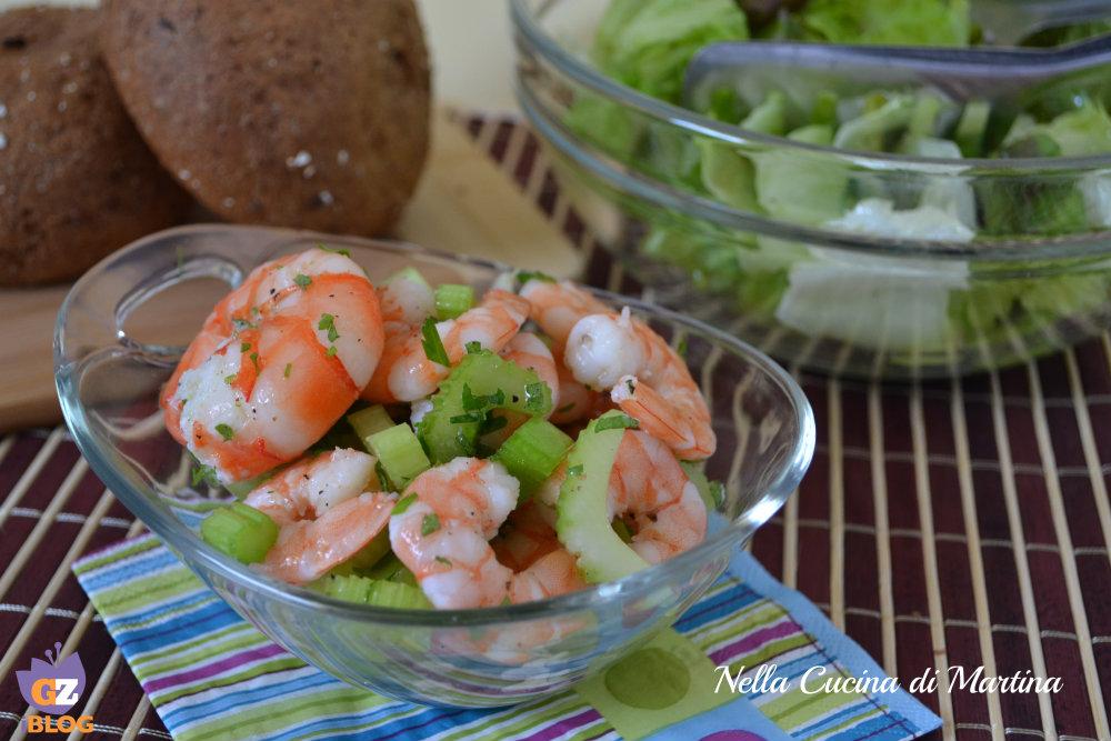 insalata di gamberetti, ricetta nella cucina di martina blog