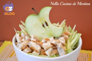 Mac salad, insalata di pollo e mele