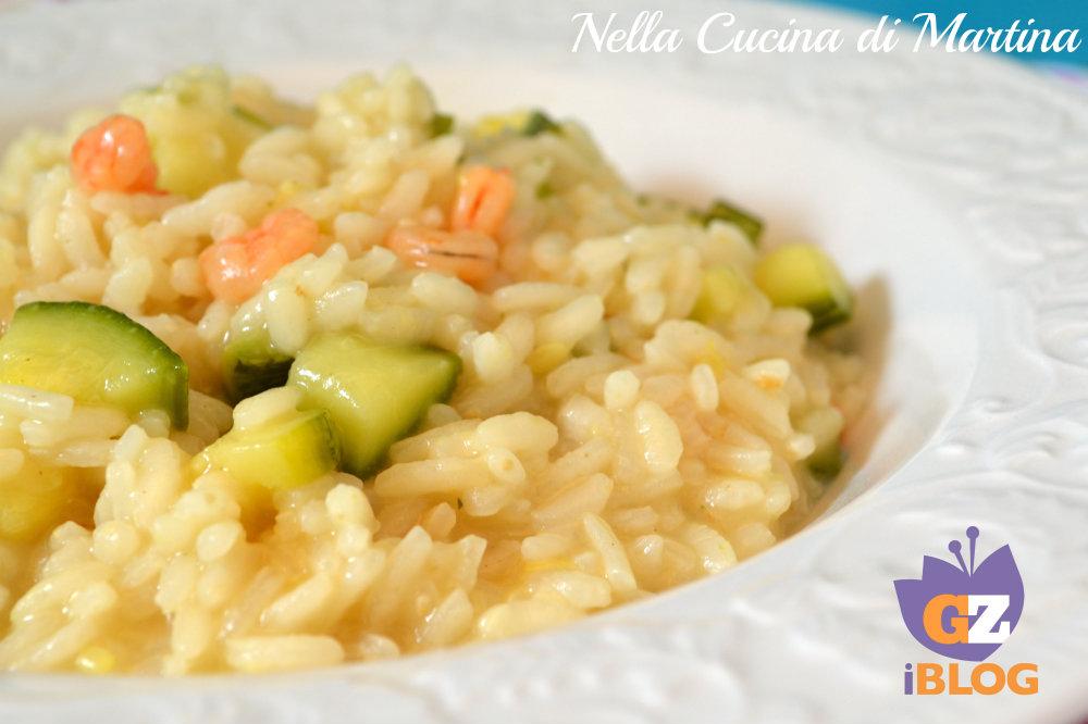 Risotto gamberetti e zucchine - La cucina di martina ...