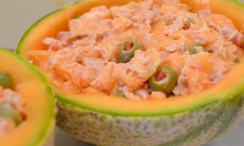 Coppe di melone al sapore di mare