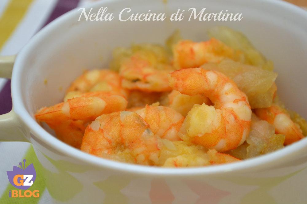 gamberetti e cipolle ricetta blog nella cucina di martina